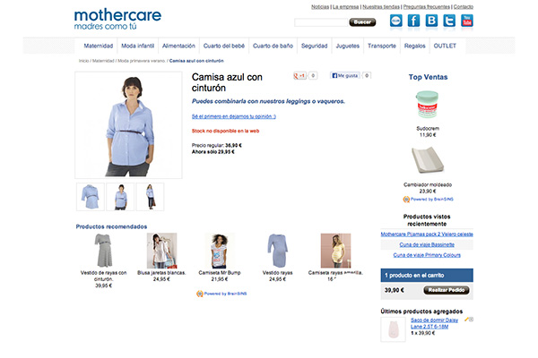 Fashion Recommendations in MotherCare Online Store