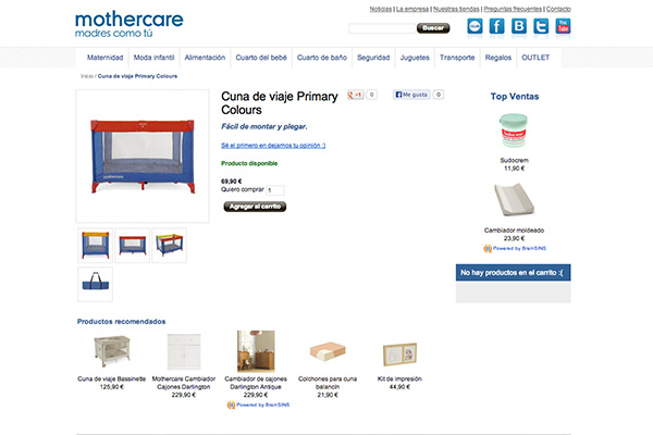 Product Recommendations in MotherCare Online Store