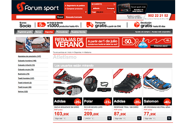 ForumSport Recommendations at Category Page