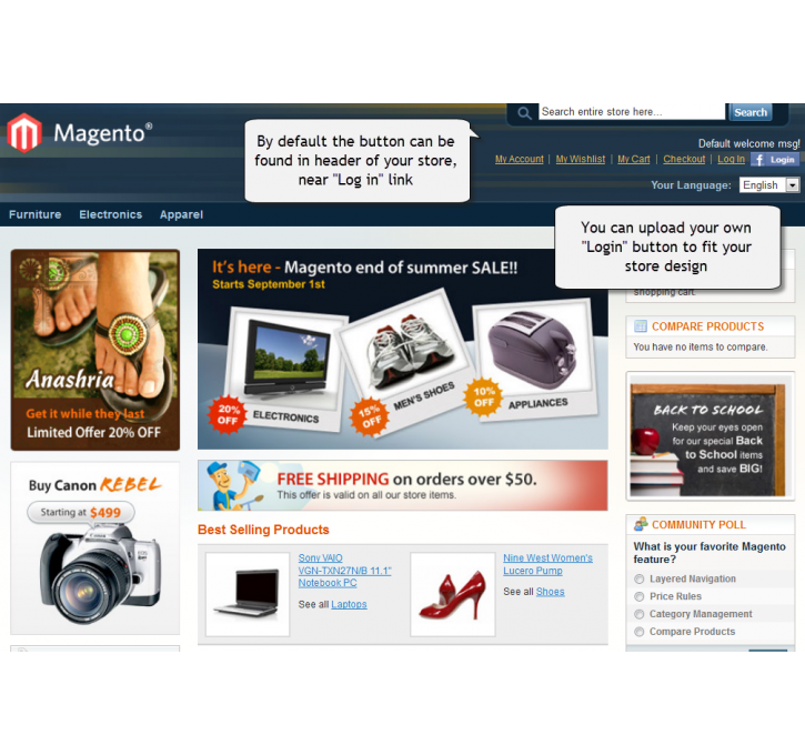 top 10 social commerce magento extensions. Black Bedroom Furniture Sets. Home Design Ideas