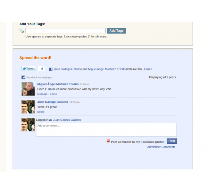 Facebook Comments Magento