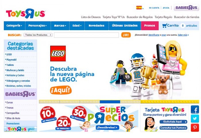 Home Site to Toys´R Us Spain