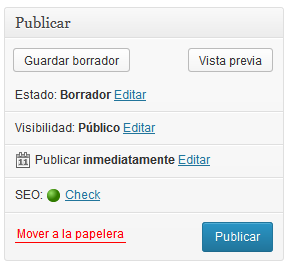 SEO en WordPress: post con SEO OK